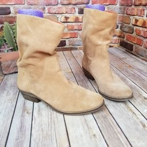 Lucky brand ankle boots light brown fits 9